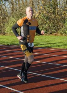 20141214 Spijkenisse marathon Karl Snoek bij start